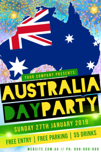 Australia Day Party Poster