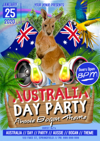 Australia Day Party Poster A3 template