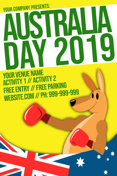Australia Day Poster template