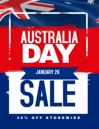 Australia Day Sale Promotion Poster Flyer