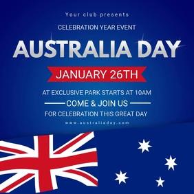Australia Day Video Event Video Invite Square (1:1) template