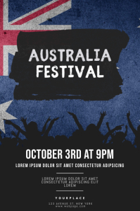 australia Festival flyer design template