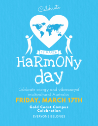 Australia Harmony Day Event Flyer Template