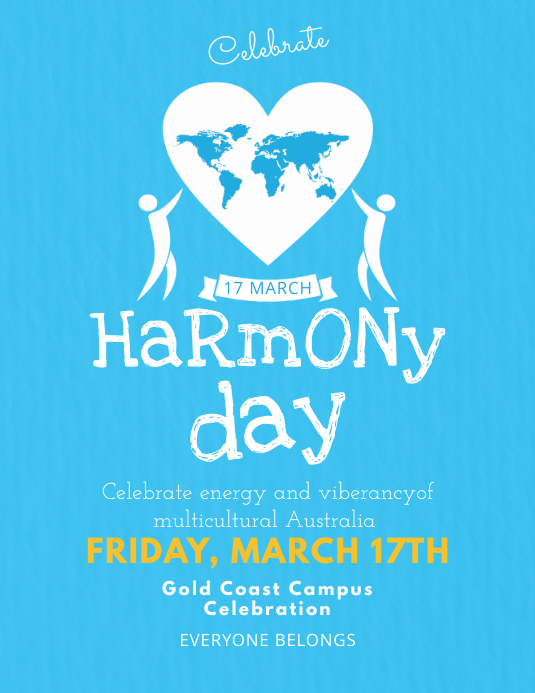 Azure Flyer Template   Australia Harmony Day Event Flyer Template Postermywall