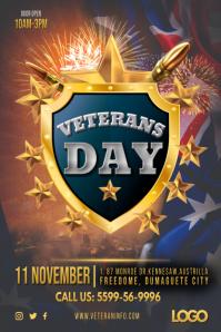 Australian Veteran's Day Poster template