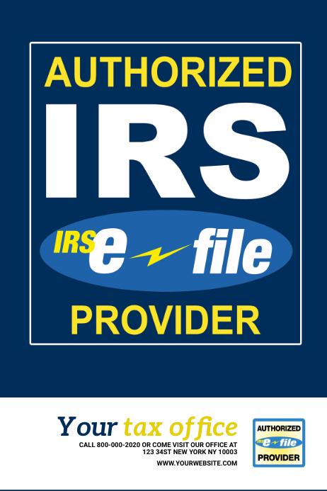 Authorized IRS Provider Poster
