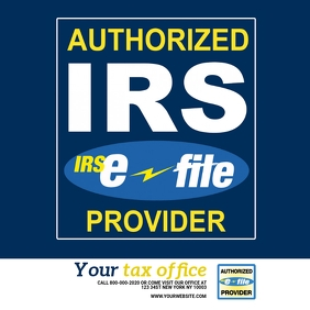 Authorized IRS Provider Template