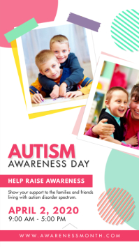 Autism Awareness Day Instagram Story Template