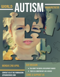 Autism awareness flyer, World Autism Day Flyer