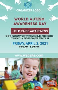 autism awareness flyer template 半版