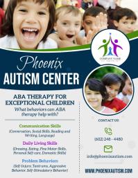 Autism Center Flyer template