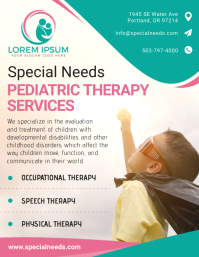 Autism Therapy Services Flyer Pamflet (Letter AS) template