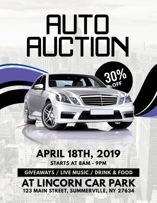 Auto Auction Flyer