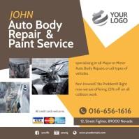 Auto Body Repair & Paint Service Pos Instagram template