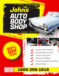 Auto Body Shop Flyer Poster Templaate