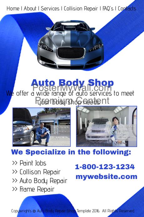 auto body shop template
