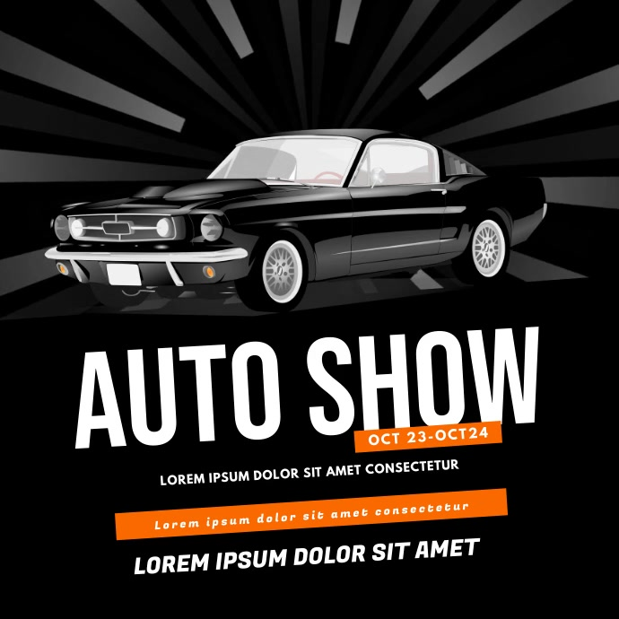 Auto car show video design instagram Carré (1:1) template