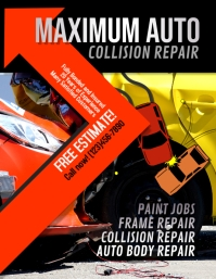 auto collision repair Advertisement Flyer