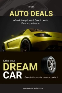 Auto Dealership Poster template