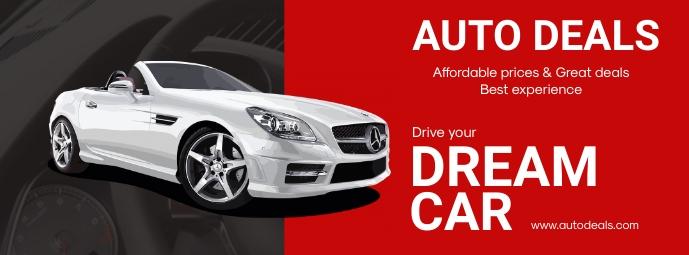 Auto Dealership Poster Copertina Facebook template