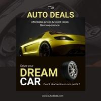 Auto Dealership Poster โพสต์บน Instagram template