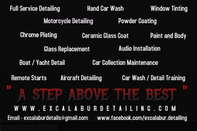 Auto Detailing and Customizing Flyer