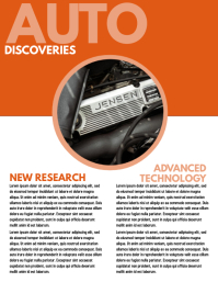 AUTO DISCOVERIES Flyer (US Letter) template