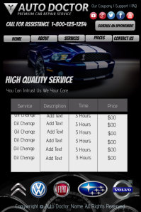 Auto Doctor Template Affiche