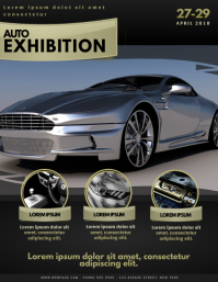 Auto exhibition Flyer Template