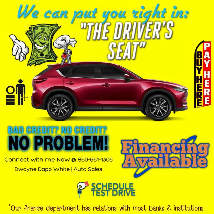 No Credit Auto Sales >> Auto Templat Postermywall