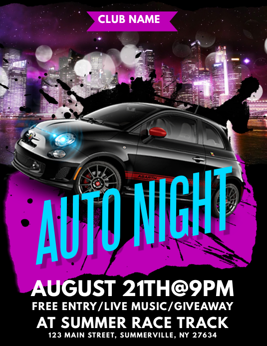 Auto Night Flyer