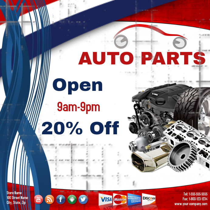 Engines And Auto Parts For Sale: Auto Part Sale Template