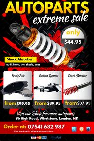 Auto Parts Extreme Sale Poster