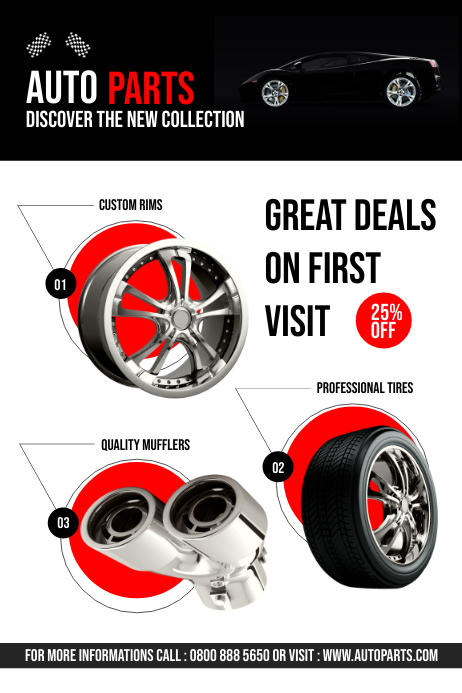 Auto Parts For Sale >> Auto Parts Flyer Template Postermywall