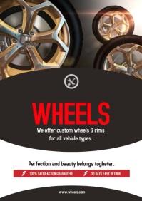 Auto Parts Flyer A4 template