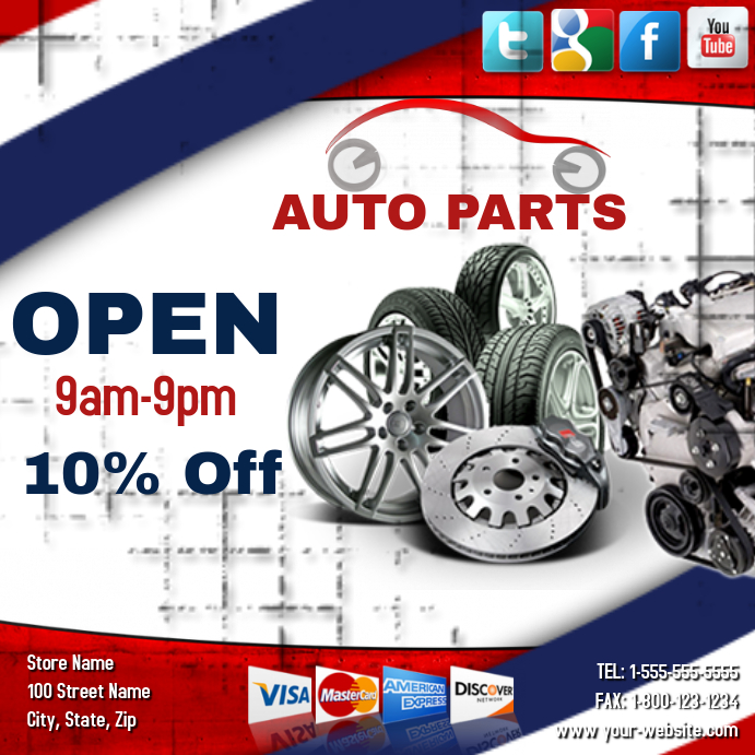 Auto Parts For Sale >> Auto Parts Sale Template Postermywall