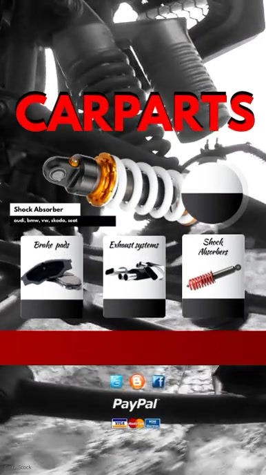 Auto Parts For Sale >> Auto Parts Sale Video Template Postermywall