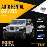 Auto rental service instagram post template