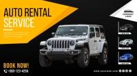Auto rental service prmotion twitter post template