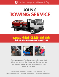 Auto Repair & Towing Service Flyer Poster Template