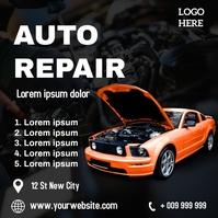 Auto repair Instagram-Beitrag template