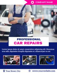 Auto repair Flyer (format US Letter) template