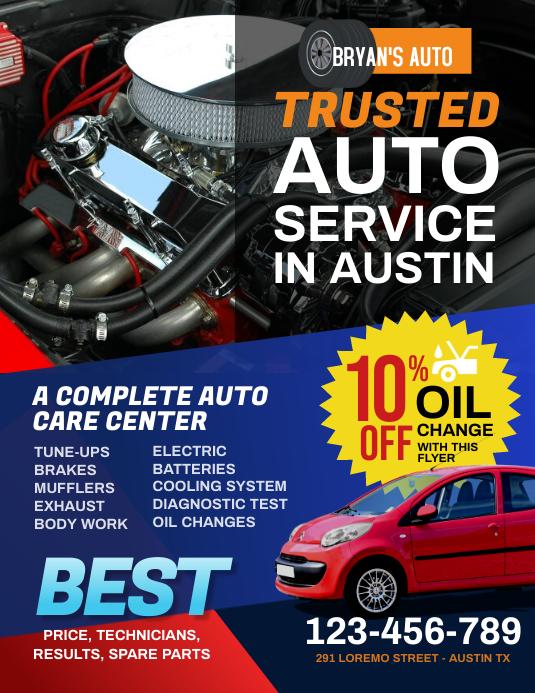 Auto Repair Flyer template