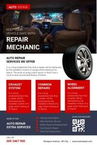 Auto Repair Mechanic Service Poster template