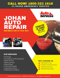 Auto Repair Service Flyer Poster