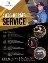 Auto Repair Service Flyer Poster Template Pamflet (VSA Brief)