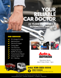 Auto Repair Service Flyer Poster Template