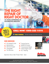 Auto Repair Service Flyer Template