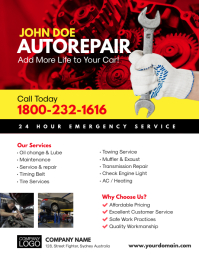 Auto Repair Service Flyer Template