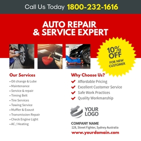 Auto Repair Service Instagram Post